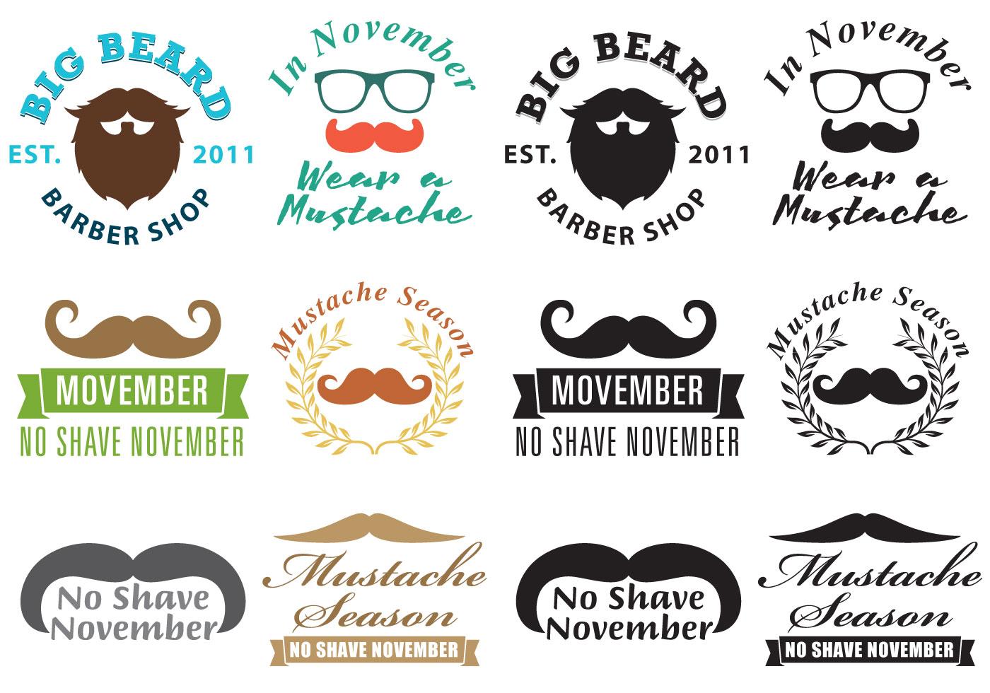 Mustache Movember Logo Vectors Download Free Vector Art