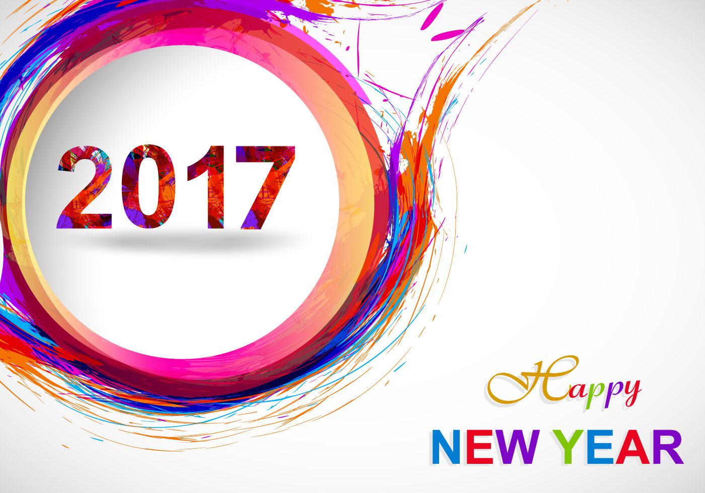 Happy New Year On Grey Background