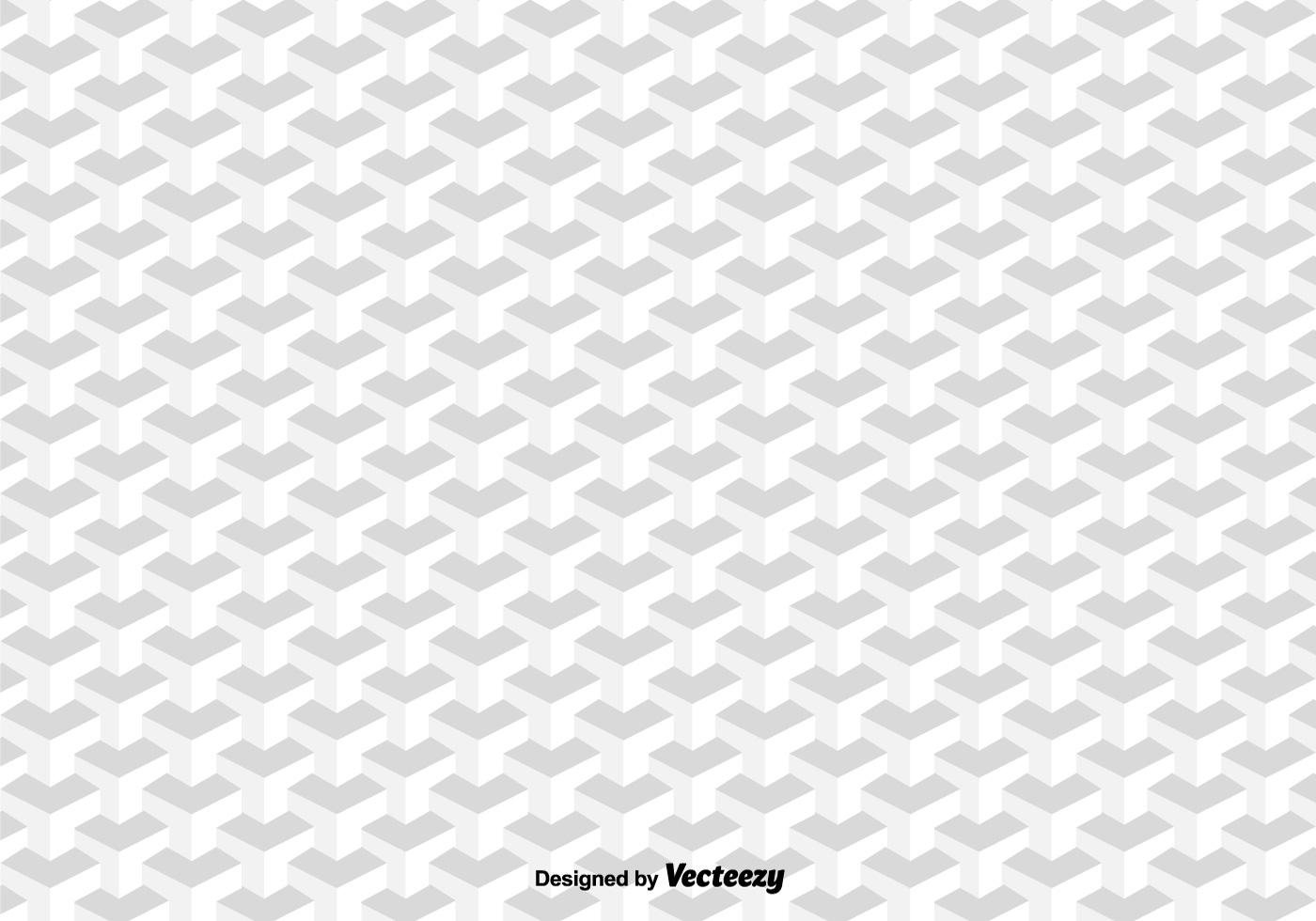 3d Cubes Vector Pattern