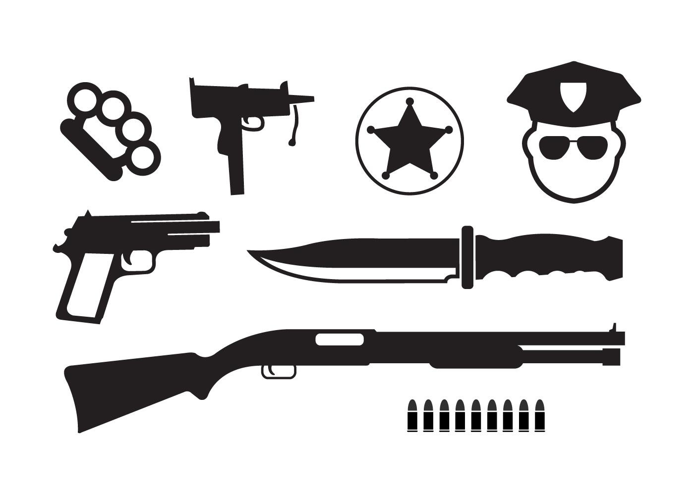 Minimal Crime Vector Icons