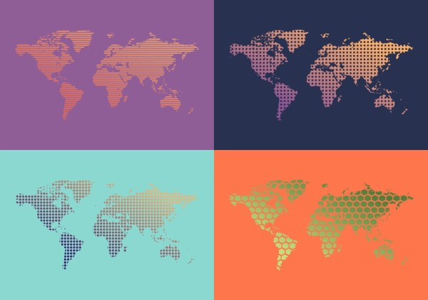 Hexographer 2016 Monthly World Map Icons Editor - Year of