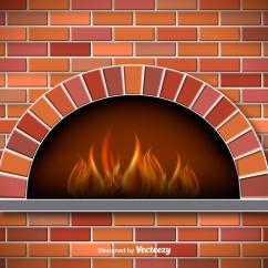 Kitchen Cook Stoves Decor Sets Vector Rustic Pizza Oven - Download Free Art, Stock ...