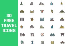 Free Travel Icon Vectors - Vector Art