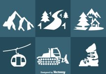Snow Resort Icons Vector - Free Art Stock