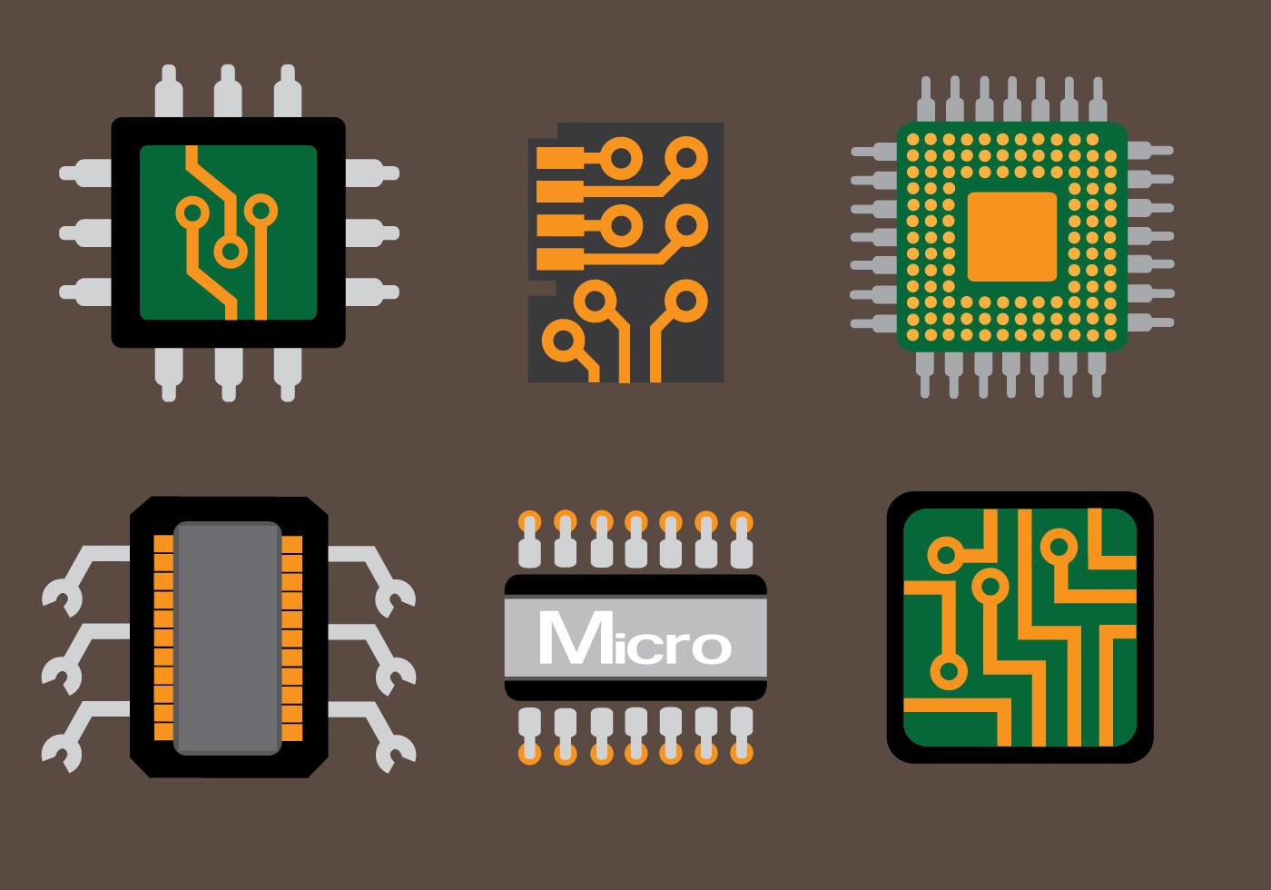 Electric Circuit Symbol Element Set Stock Vector