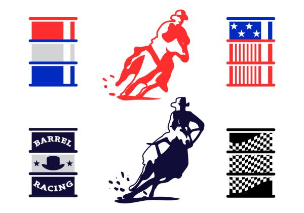 Free Barrel Racing Vector - Art