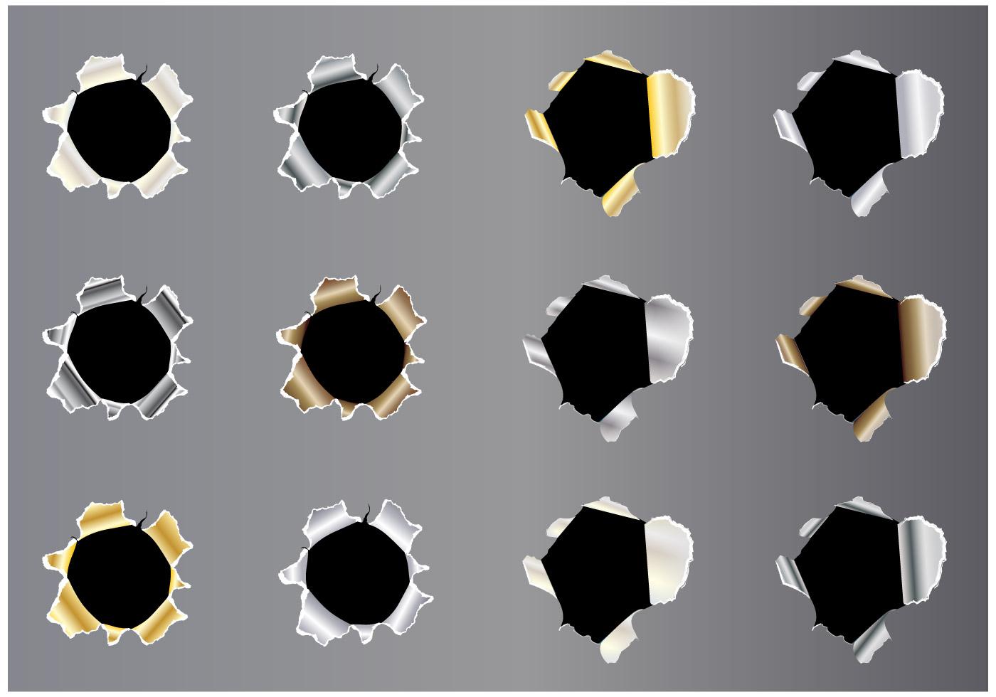 Metal Tear Vector Set Download Free Vector Art Stock