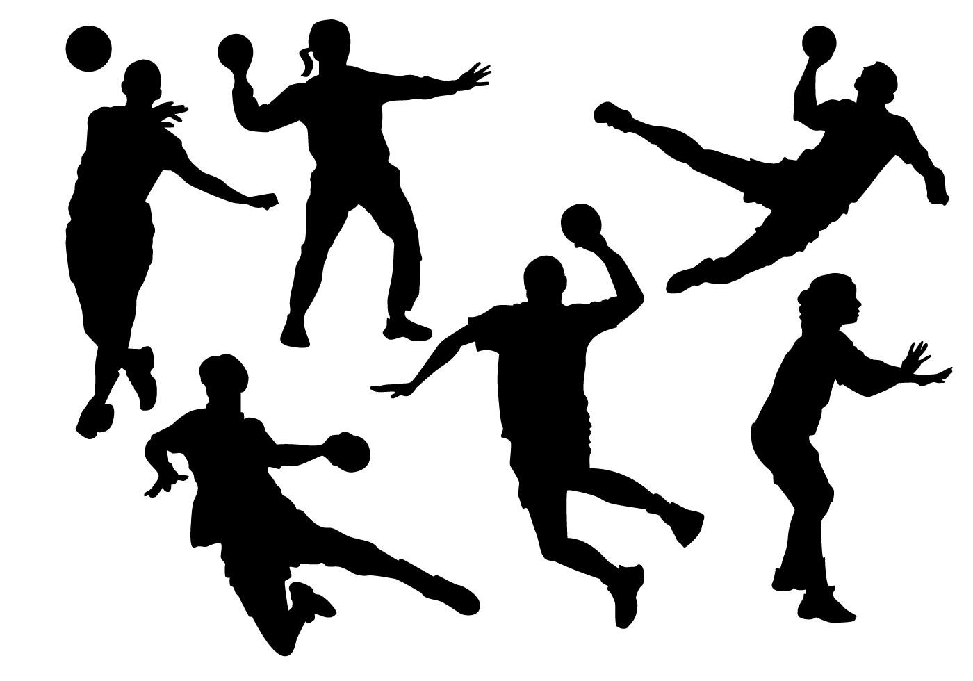 Free Handball Players Silhouette Vector