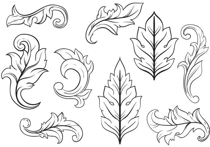 Acanthus Leaf Design Arch Ornaments t Acanthus