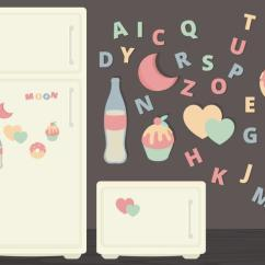 Kitchen Magnets Black Island Cart Vector Fridge Illustration Download Free Art Stock