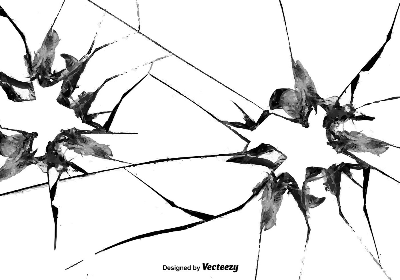 Broken Window Vector Effect
