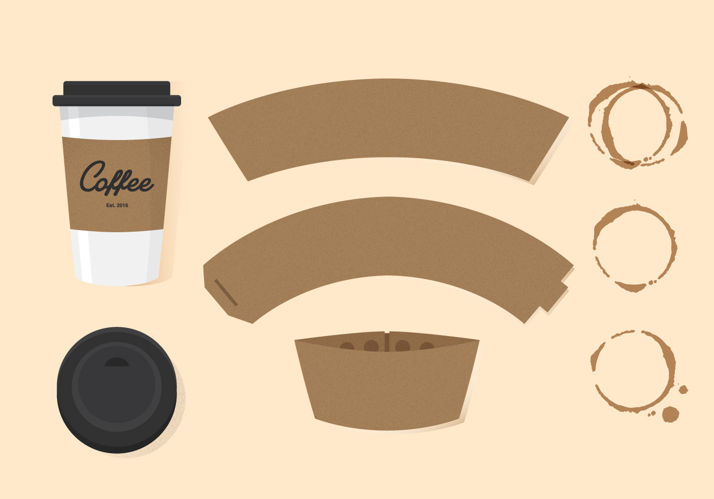 Starbucks Coffee Cup Sleeve Template Wwwpixsharkcom 8