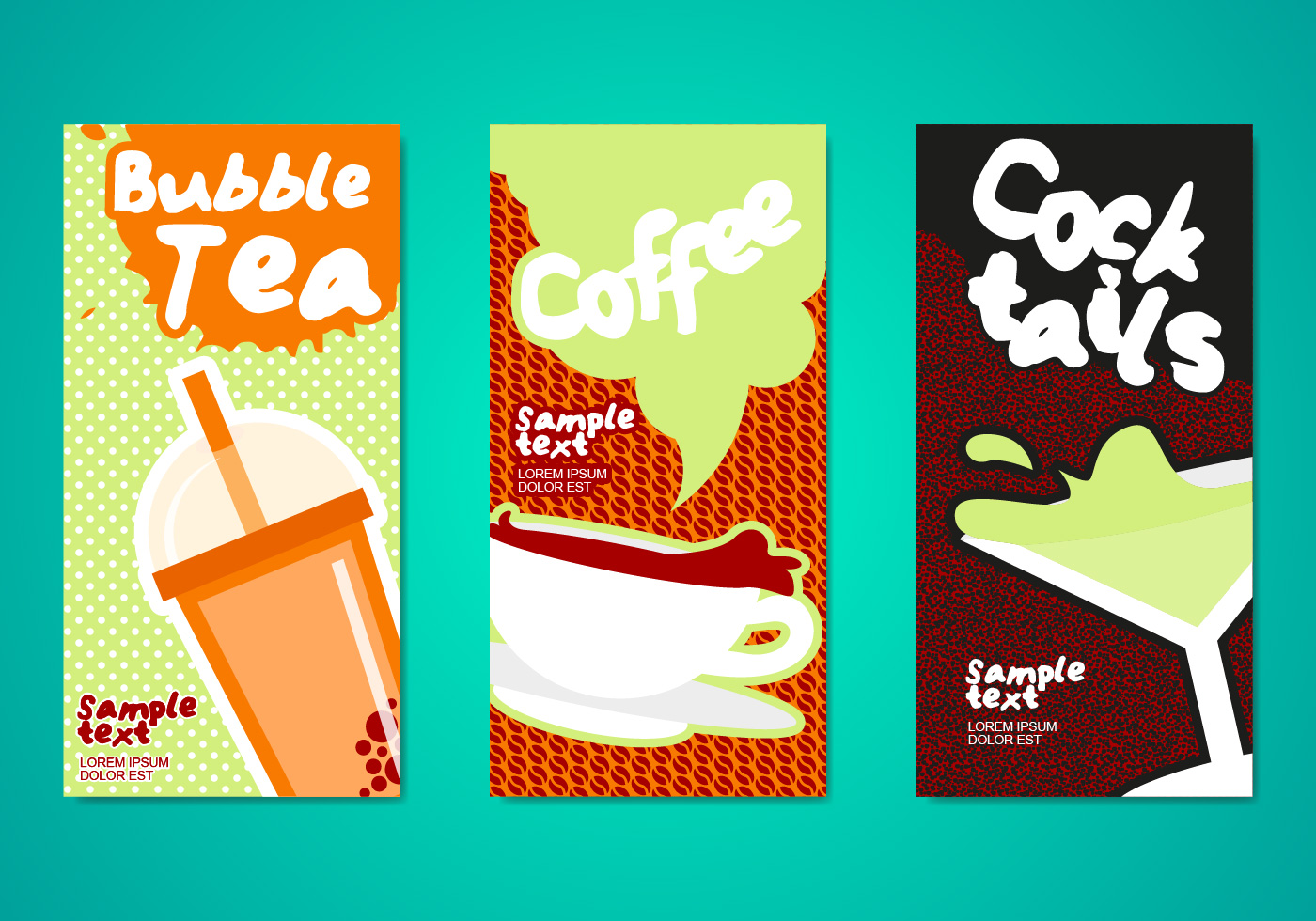 Bubble Tea Drinks Flyers Template - Download Free Vector Art, Stock  Graphics & Images
