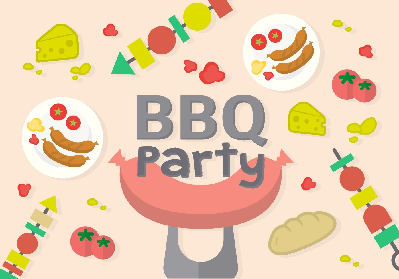 Free Barbecue Party Vector  Download Free Vector Art