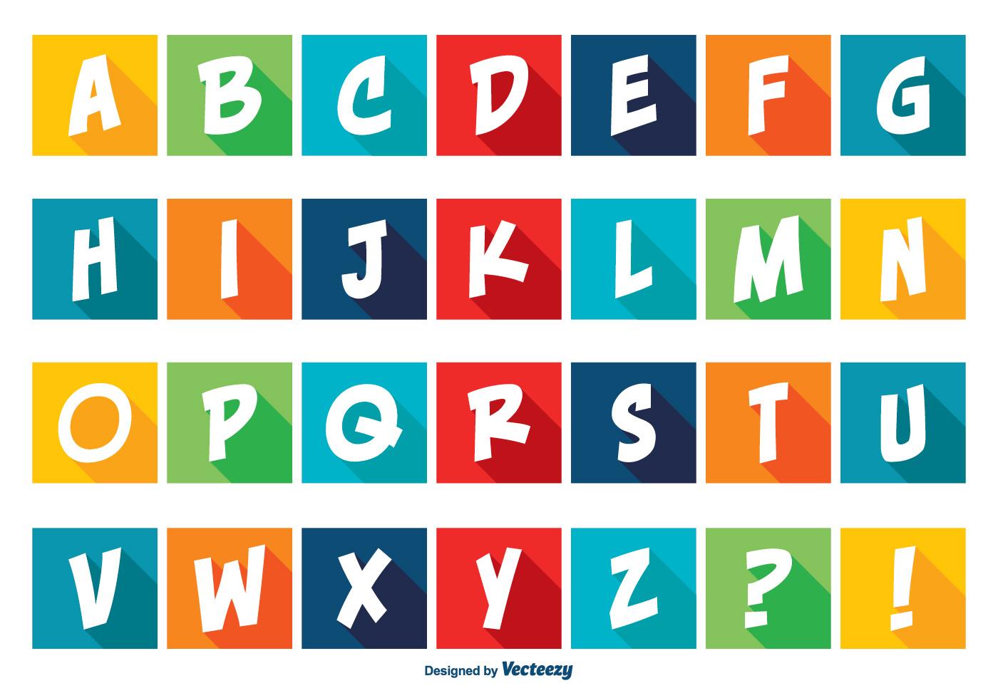 Alphabet Icons Free Vector Art