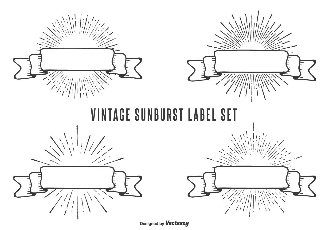Vintage Sunburst Label Set