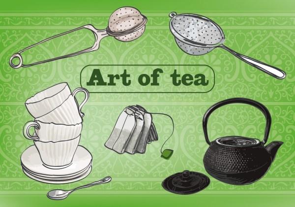 Art Of Tea Vector Background - Free