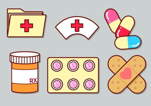 cute medical icon set 3