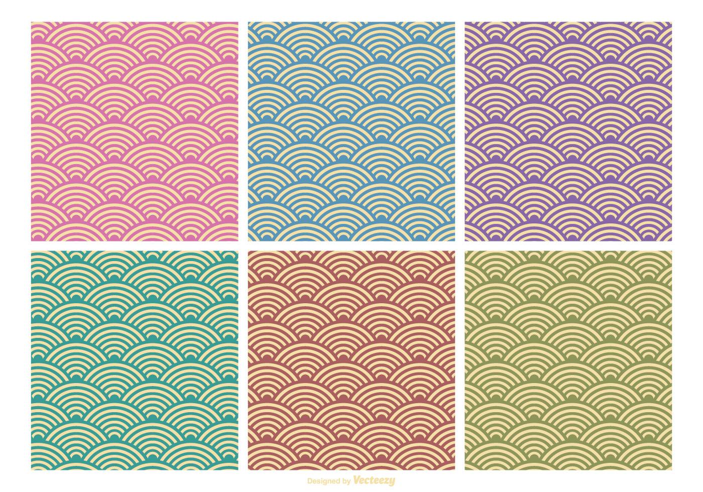 Cute Circle Wallpaper Retro Pattern Vector Set Download Free Vector Art Stock