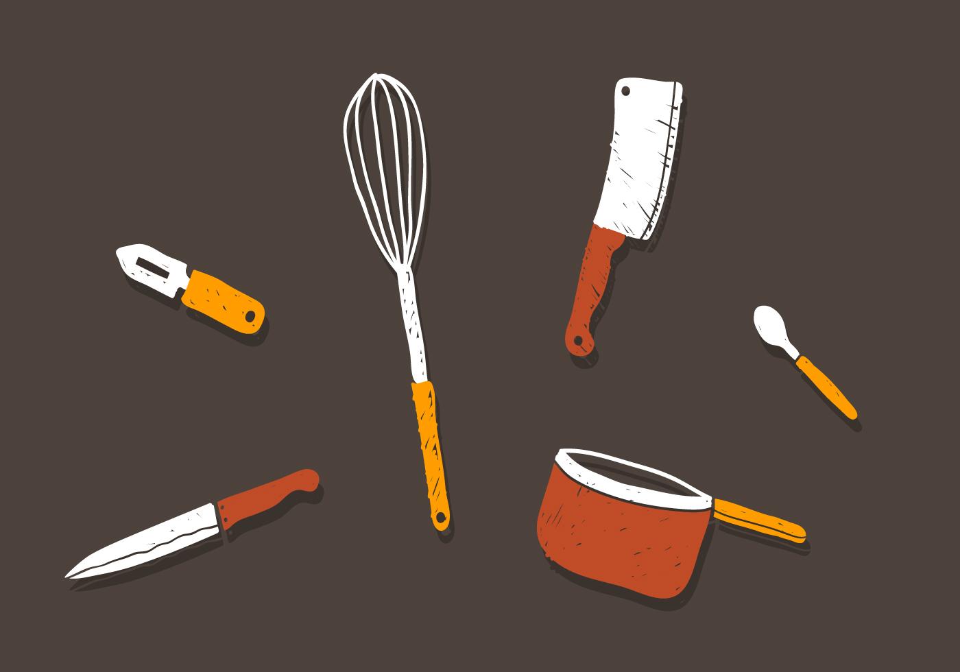 Vector Kitchen Utensils Download Free Vector Art Stock
