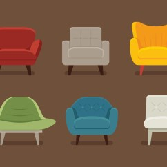 Chair Design Icons Walmart Folding Chairs Camping Midcentury Vectors - Download Free Vector Art, Stock Graphics & Images