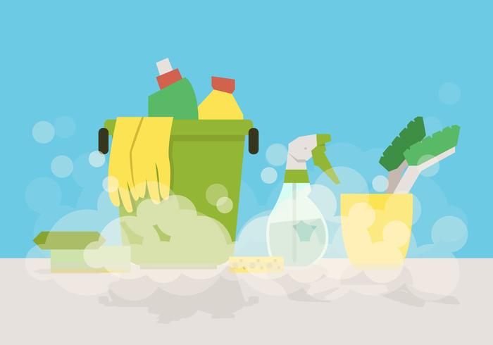 Vector Spring Cleaning Tools  Download Free Vector Art