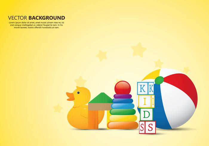 Cute Toddlers Playing Cartoon Wallpaper Kids Toys Background Download Free Vector Art Stock