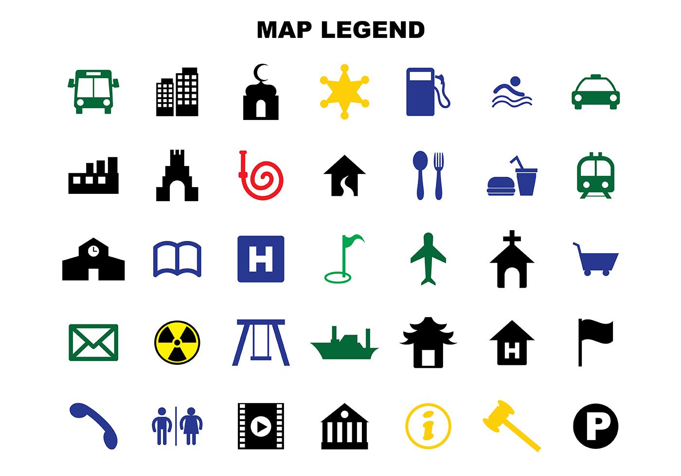 Free Map Legend Vector