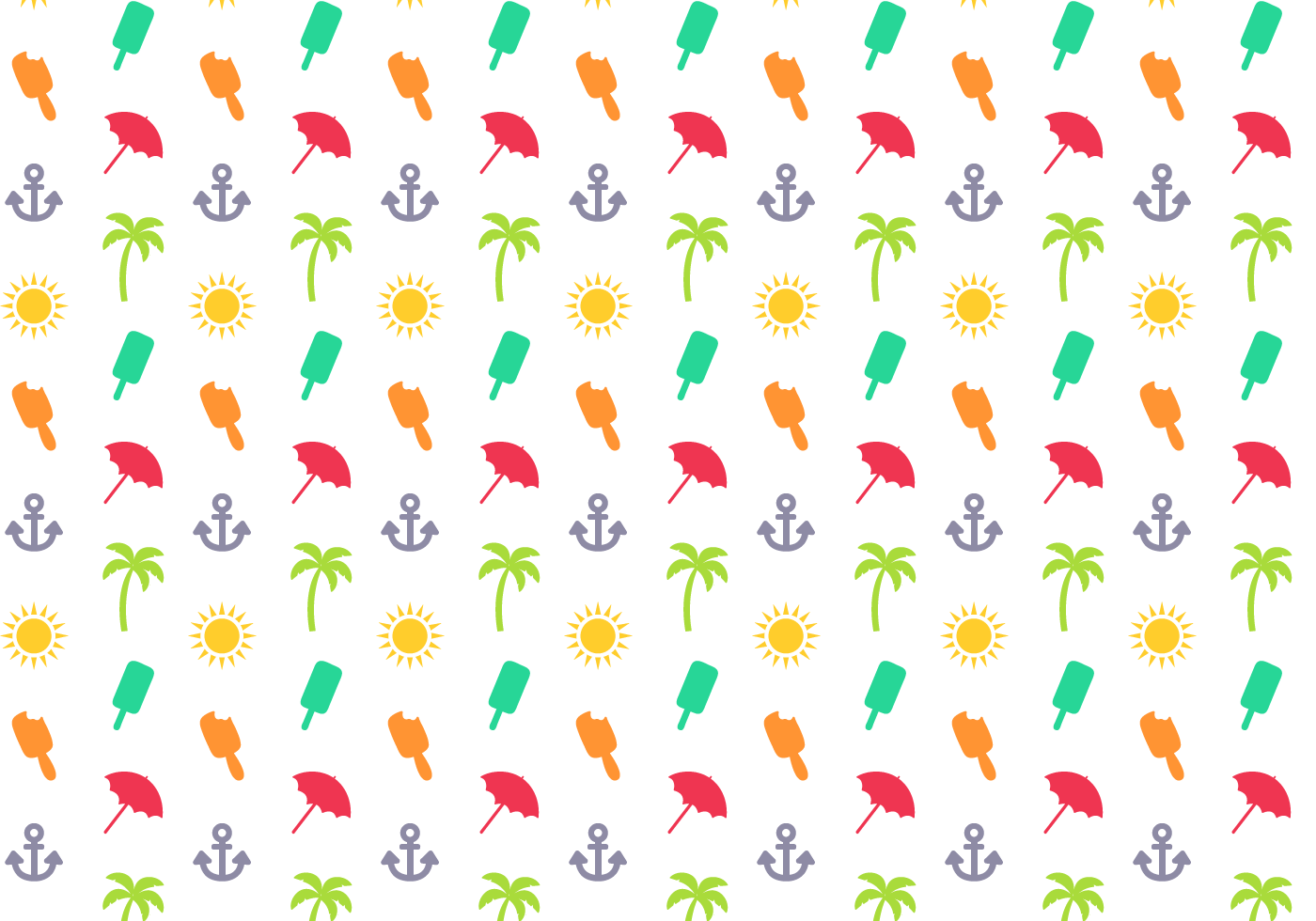 Free Summer Pattern Vector  Download Free Vector Art, Stock Graphics & Images