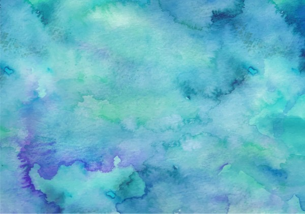 Teal Free Vector Watercolor Background - Art Stock Graphics &