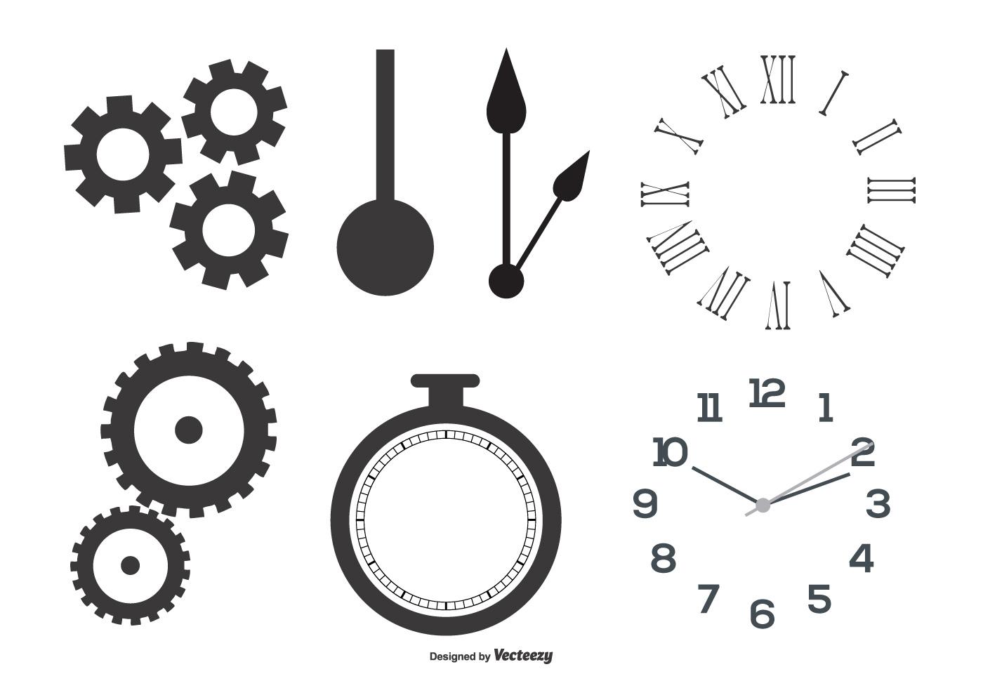 Clock Parts Vector Shapes