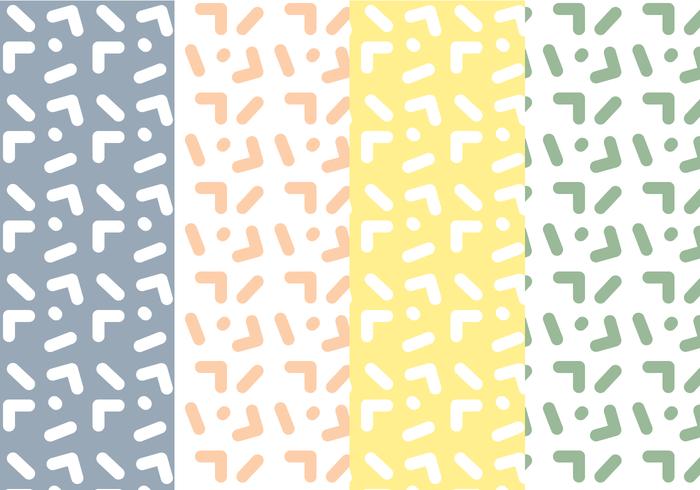 free memphis pattern vector