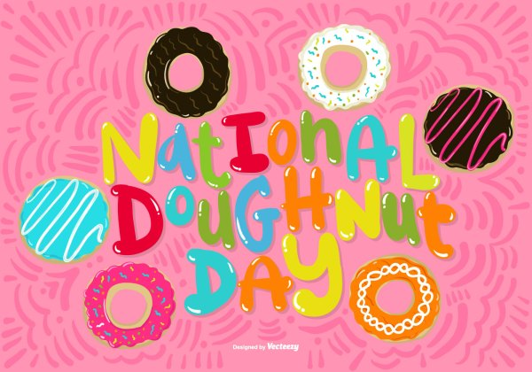 National Doughnut Day Vector - Free Art