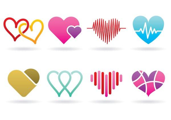 Heart Logos - Free Vector Art Stock Graphics