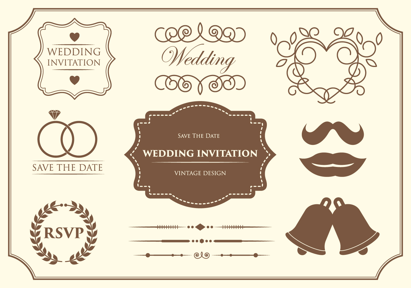 Save Date Marriage Invitation