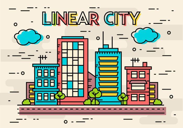 free flat linear design