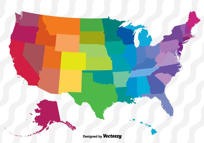colorful vector map of