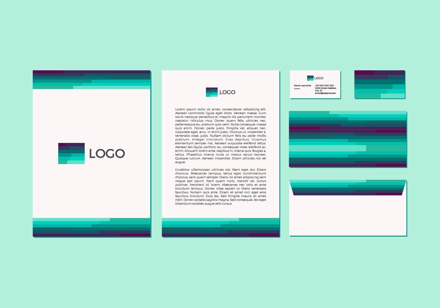 Free Emerald Vector Letterhead Design Download Free Vector Art Stock Graphics Amp Images