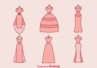Wedding Dress Vector - Download Free Vector Art, Stock ...