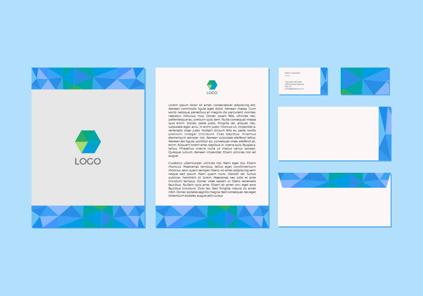 Free Blue Vector Letterhead Design Download Free Vector Art Stock Graphics Amp Images