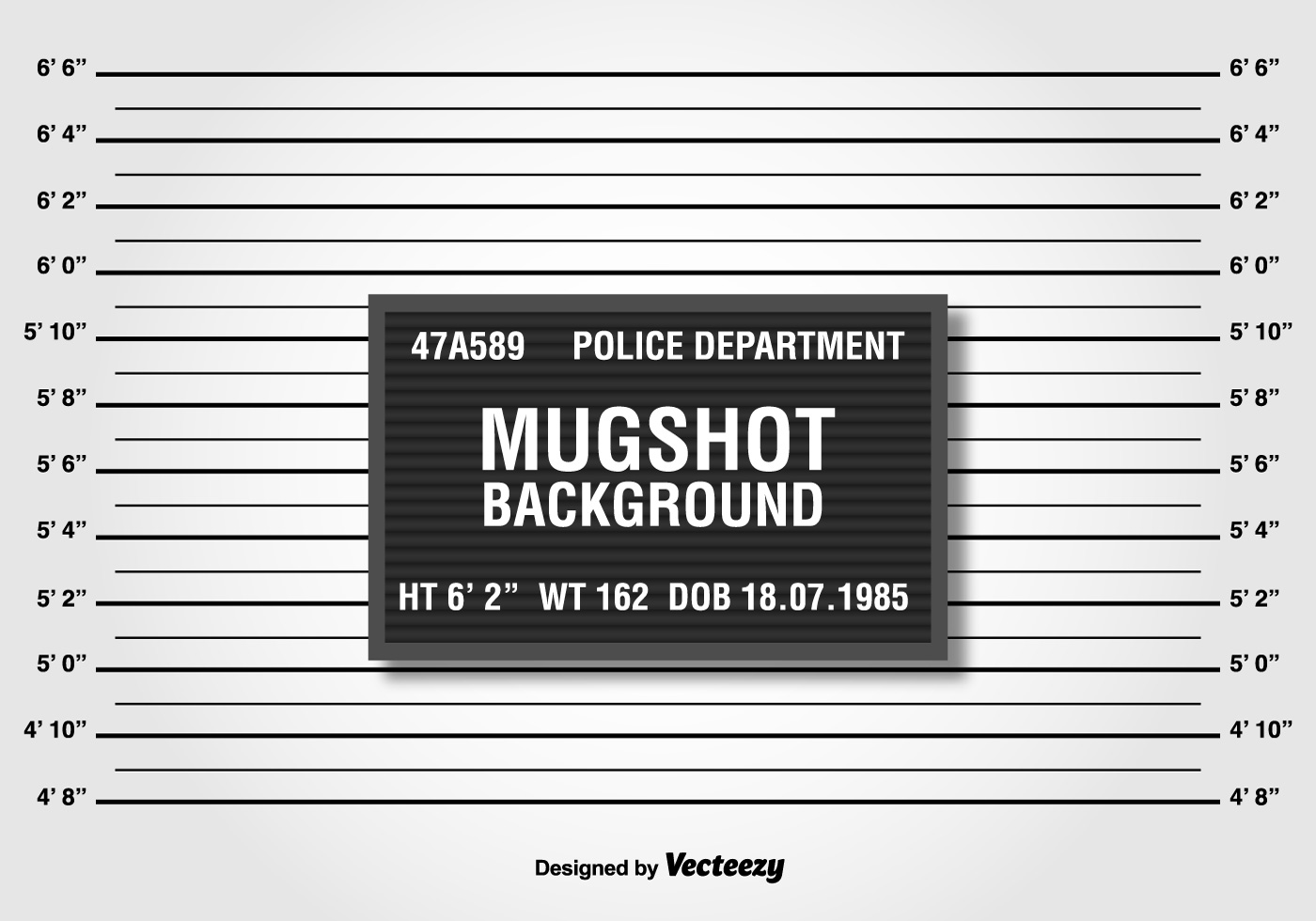 Police Lineup Or Mugshot Background