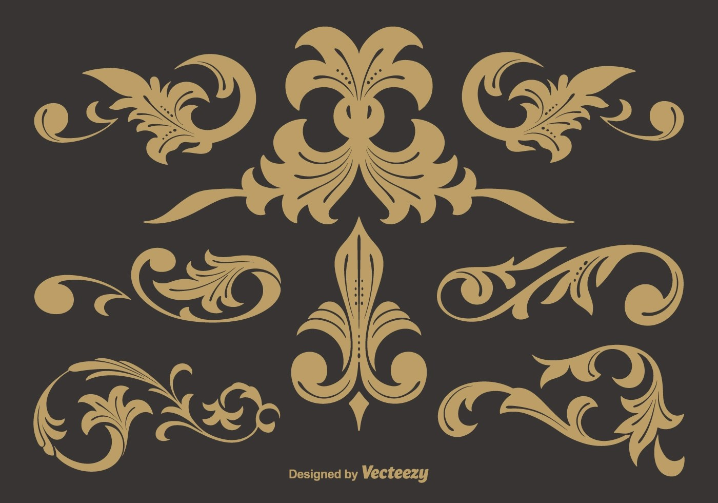 Black And White Victorian Wallpaper Western Flourish Vectors Download Free Vector Art Stock