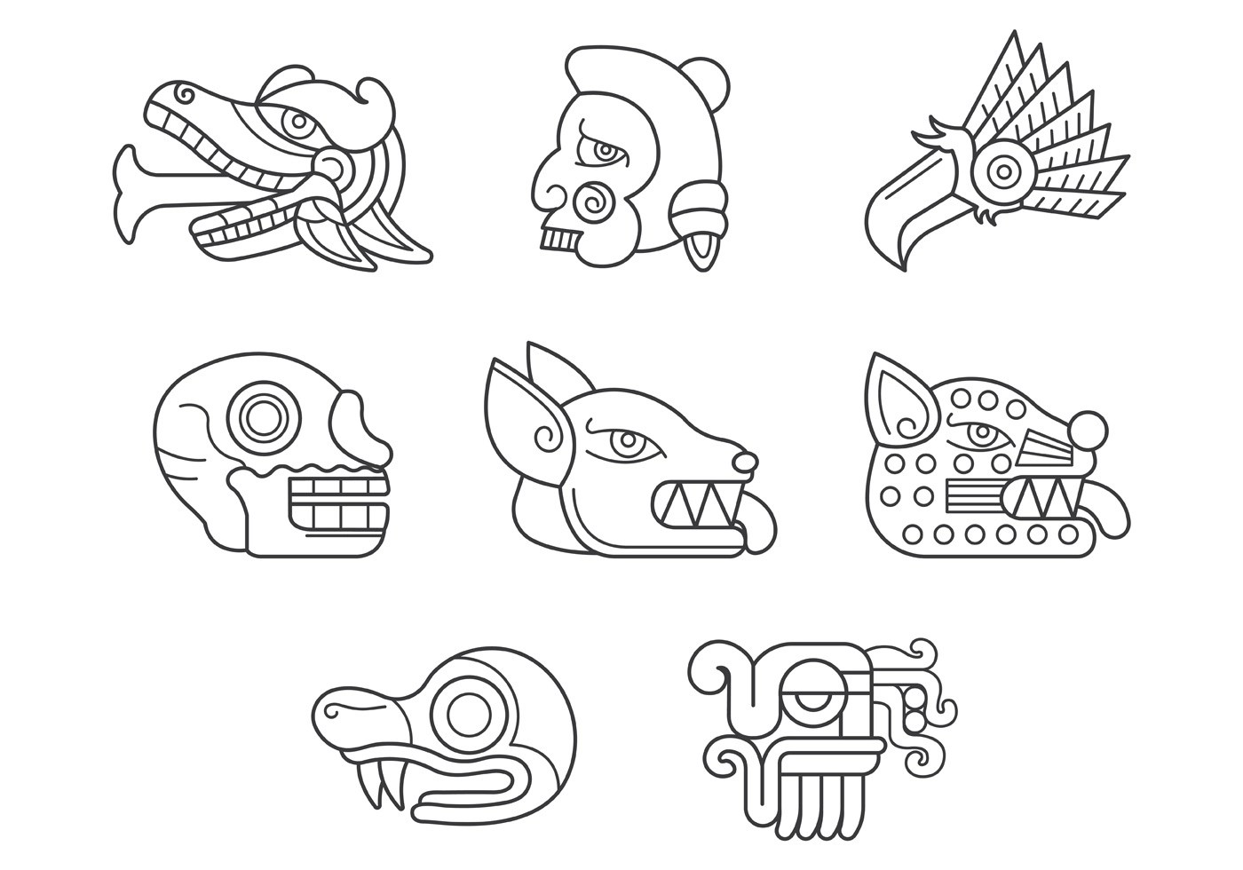 Tribal Tattoo Set Stock Images