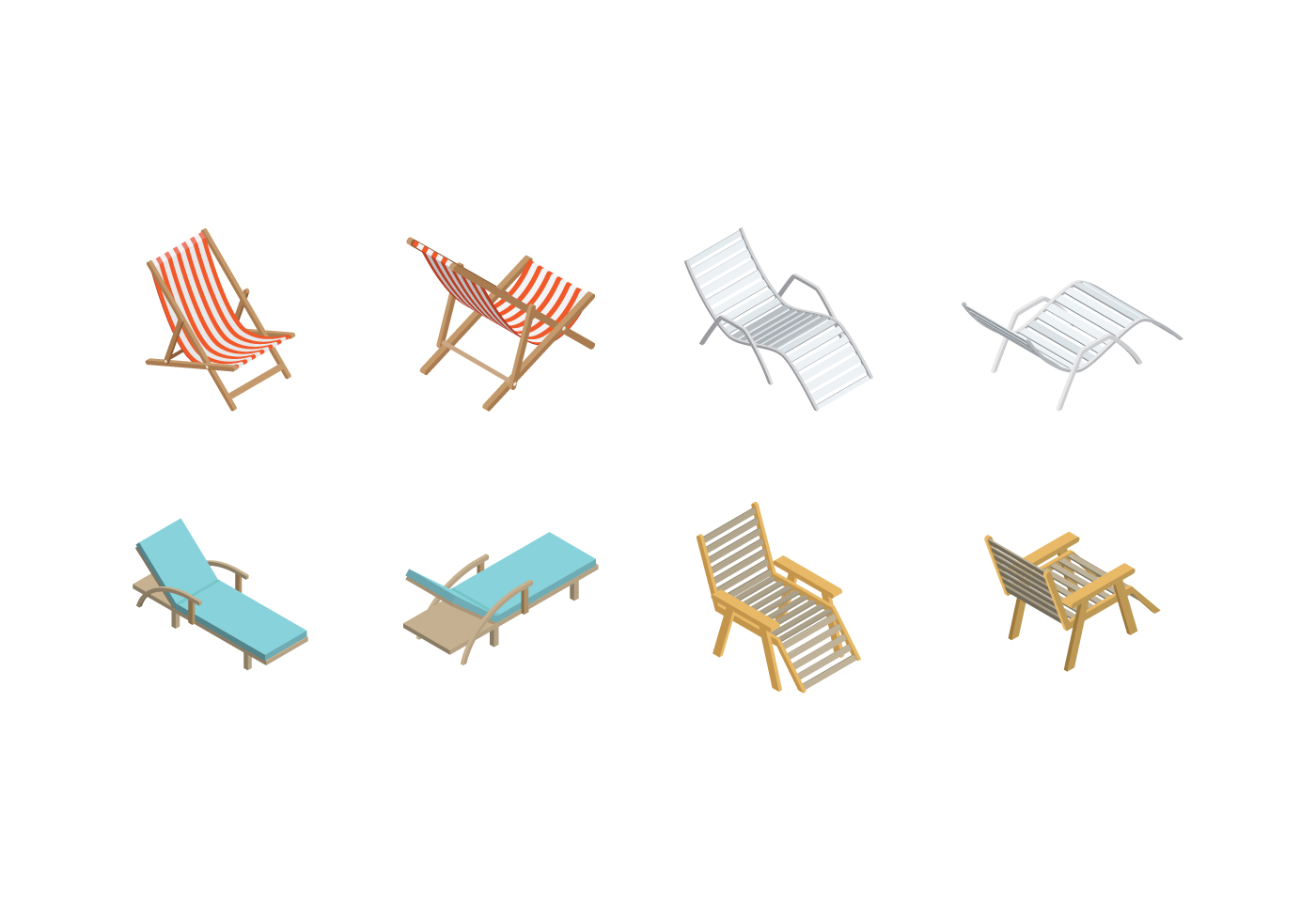 adirondack chair wood orange living room chairs free isometric deck vector - download art, stock graphics & images