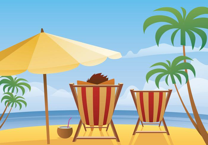 Summer Beach Landscape Vector  Download Free Vector Art
