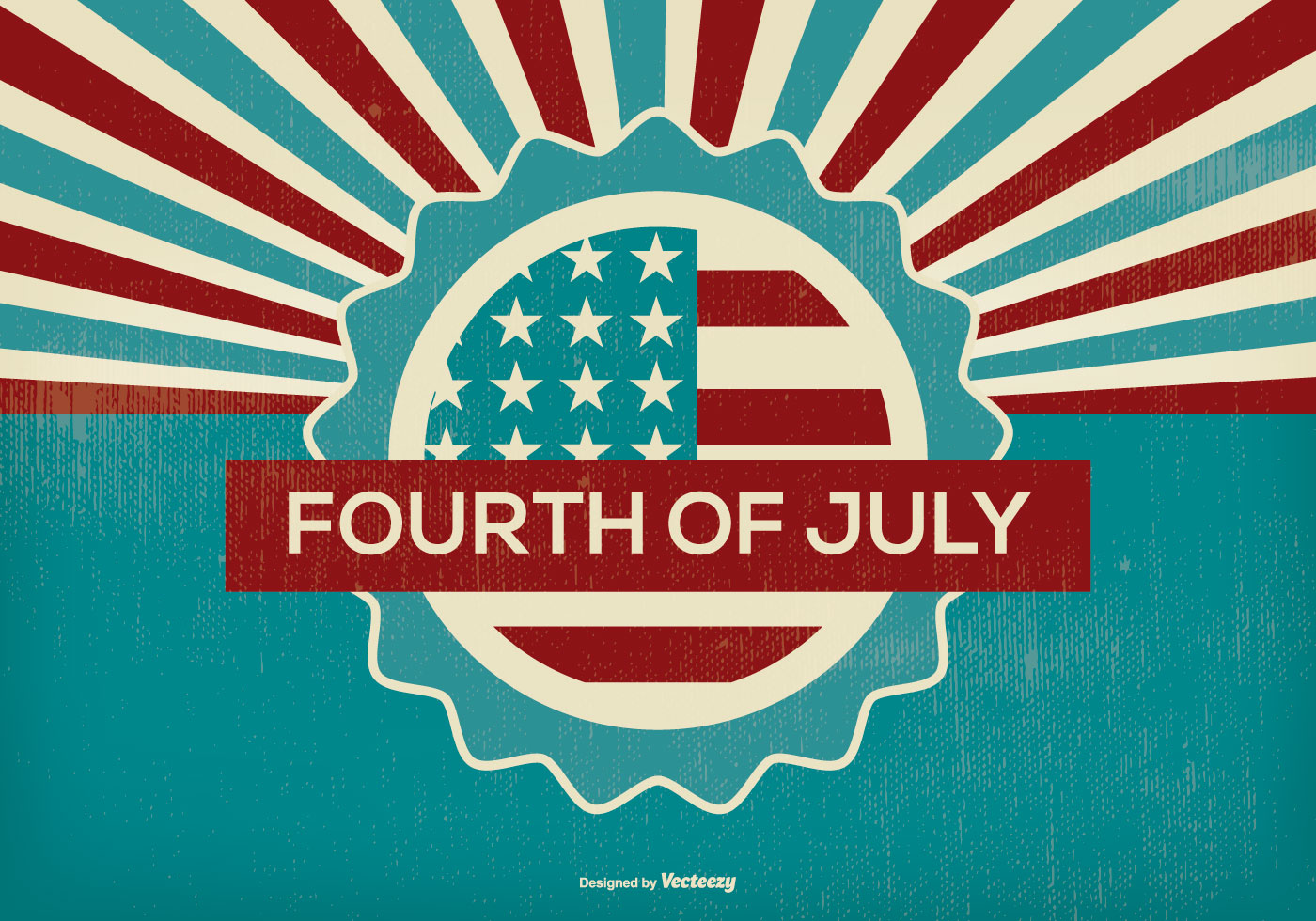 Retro Fourth of July Illustration  Download Free Vector