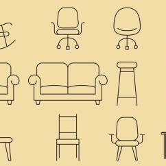 Chair Design Icons Duck Hunting Chairs Line Download Free Vector Art Stock Graphics Images