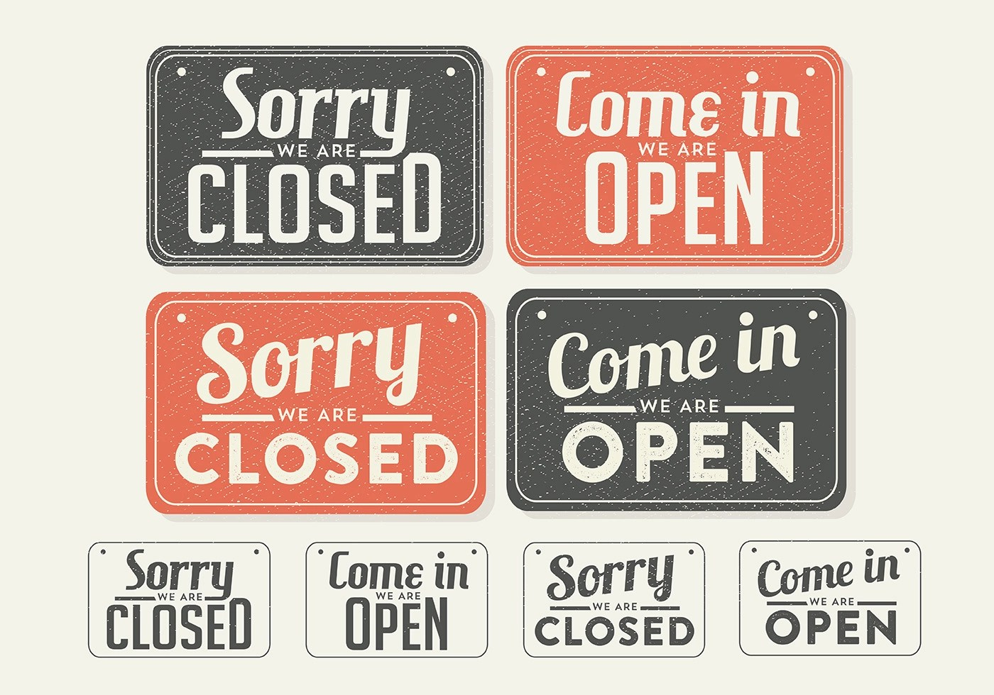open sign free vector