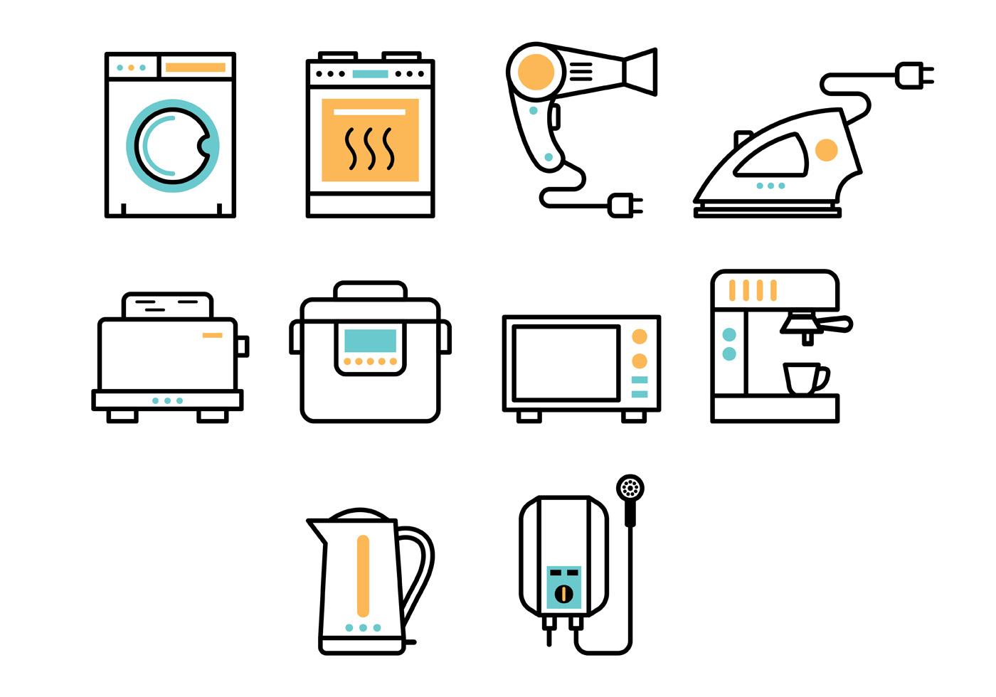 Set Of Appliance Icon