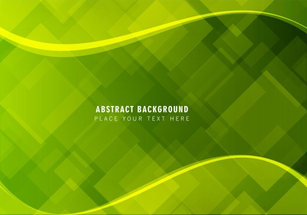 Vector Abstract Green Background - Free